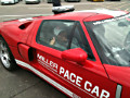Jennifer on board the (former) Miller Motorsports Park Ford GT-40 Pace Car