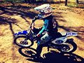 Shae putting down some braaaap on her dirt bike